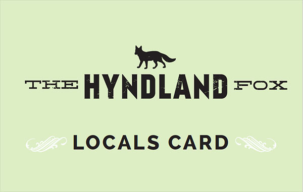 THE LOCALS CARD. A SWEET LITTLE GREEN CARD WITH A BIG BENEFIT…